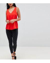 River Island - Petite Grey Amelie Studded Super Skinny Jeans Petite Grey Amelie Studded Super Skinny Jeans - Lyst