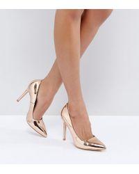 Truffle Collection - Wide Fit Heel Court Shoe Heels - Lyst