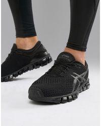 Asics - Running Gel Quantum 360 Knit Trainers In Black - Lyst