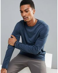 Perry Ellis - 360 Sports Long Sleeve Top In Navy Marl - Lyst