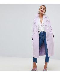 ASOS - Pearl Soft Coat - Lyst