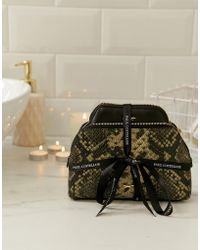 Paul Costelloe - Real Leather Metallic Moc Snake Make Up Bag And Coin Purse Gift Set - Lyst