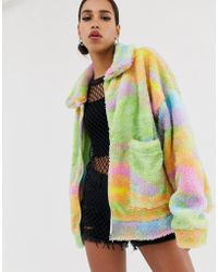 Jaded London - Tie Dye Fleece Festival Jacket - Lyst