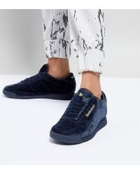 ASOS - White X Reebok Princess Sneakers In Velvet - Lyst