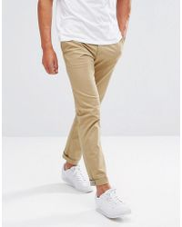 Original Penguin - Slim Fit Chinos In Beige - Lyst
