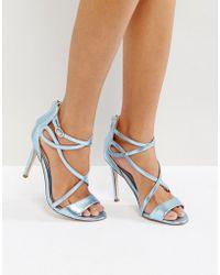 f2a199c95 Miss Kg - Fiesta Metallic Strap Heeled Sandals - Lyst