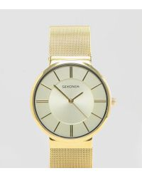 Sekonda - Gold Mesh Watch Exclusive To Asos - Lyst