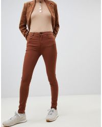Pull&Bear - Pushup Skinny Jean In Tobacco - Lyst