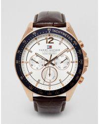 Tommy Hilfiger - Luke Leather Strap Watch 1791118 - Lyst