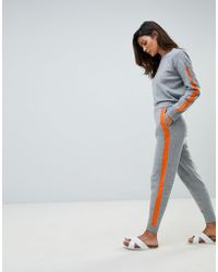 Micha Lounge - Oversized Jumper With Contrast Stripe Detail Two-piece - Lyst