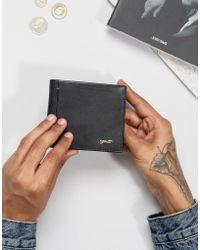 Paul Costelloe - Contrast Leather Wallet In Black - Lyst
