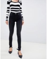 Oasis - Jade Washed Black Skinny Jeans - Lyst
