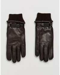 PS by Paul Smith - Goat Leather Made In Italy Gloves In Brown - Lyst