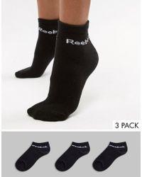 Reebok - Training Socks 3 Pack In Black - Lyst