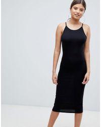 Missguided Floral V Neck Shift Dress - Black in Black - Lyst 3bf9f8eb1