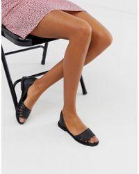 Warehouse - Plaited Huarache Sandals In Black - Lyst