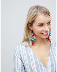 South Beach - Multi Colored Tassel Earrings (+) - Lyst