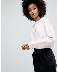 ASOS - Sweat In Boxy With Colourblock Panels - Lyst