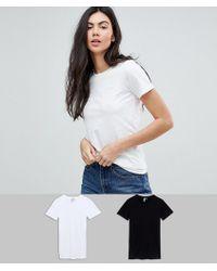 ASOS - Asos Design Tall Ultimate Crew Neck T-shirt 2 Pack Save 15% - Lyst