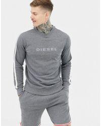 DIESEL - Sweat-shirt logo brod et rayure sur le ct - Lyst