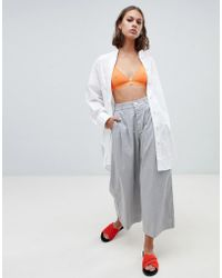 Kowtow Cropped Wide Leg Pants In Organic Cotton
