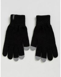 Penfield - Nanga Etouch Knit Gloves In Black - Lyst