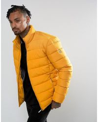 Versace Jeans - Puffer Jacket In Yellow - Lyst