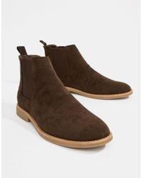 New Look - Chelsea Boots In Dark Brown - Lyst