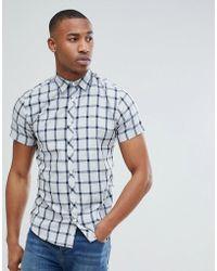Jack & Jones - Core Short Sleeve Shirt With Grid Check - Lyst
