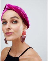 River Island - Soft Headband In Fuschia - Lyst