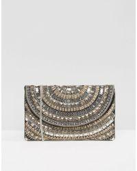 Little Mistress - Beaded Embellished Clutch Bag - Lyst
