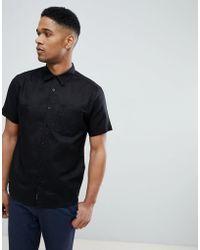 Bellfield - Short Sleeve Shirt In Black - Lyst