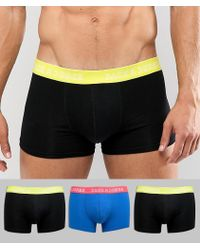 Jack & Jones - 3 Pack Trunks With Neon Waistband - Lyst