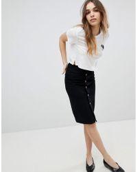 Monki - Denim Midi Skirt - Lyst
