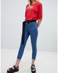 Cheap Monday - Super Skinny High Rise Jean With Raw Hem - Lyst