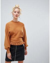 Fashion Union - Jumper With Pleated Hem - Lyst
