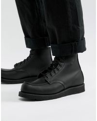 Red Wing - 6 Inch Classic Moc Toe Boots In Black Leather - Lyst
