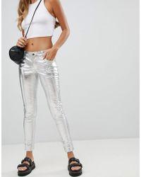 Tripp Nyc - Metallic Skinny Jean - Lyst