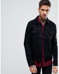 65955cc7dd04 Lyst - Asos Super Skinny Denim Jacket In Black in Black for Men