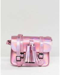 Dr. Martens - Leather 7 Mini Iridescent Satchel - Lyst