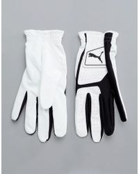 PUMA - Golf Synthetic Leather Glove In White 4135201 - Lyst