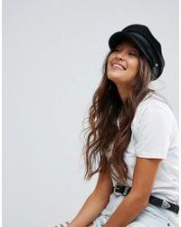 ASOS - High Crown Wool Baker Boy Hat - Lyst