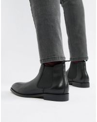 Office - Imbark Chelsea Boots In Black Leather - Lyst