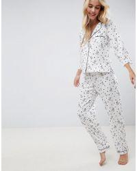 ASOS - Design 101 Dalmatians Traditional 100% Modal Long Leg Set - Lyst