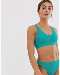 0a8813fdb51a9 Weekday - Scoop Neck Bikini Top In Turquoise - Lyst