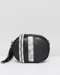 French Connection - Handbag With Faux Snakeskin Trim - Lyst