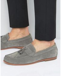 Lambretta Tassel Loafers In Gray