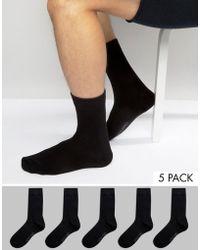 39156d3e5 Jack & Jones - Pack de 5 pares de calcetines de - Lyst