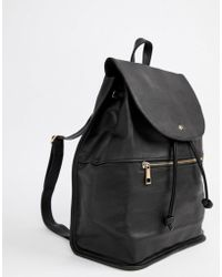 DESIGN scuba backpack with rose gold zip - Black Asos Si3ZPz