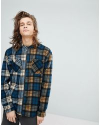 FairPlay - Zip Through Shirt With Contrast Check - Lyst